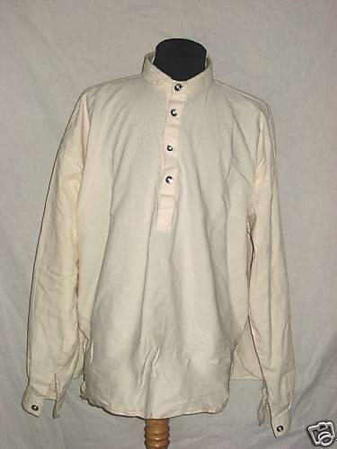 Muslin Shirt - Off White w/Pewter Buttons - Large - Civil War - L@@K!
