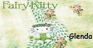 HELLO KITTY CHECKBOOK COVER PERSONALIZED FAIRY PEACOCK