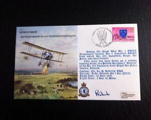 RAF-B4-Flown-amp-Signed-FDC-Handley-Page-0-400-Flt-Lt-O-039-Brien-AFTAL