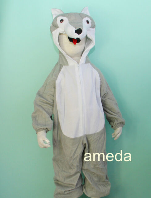 Halloween Kid Animal Fox Wolf Costume Party Dress Up Foxes Birthday Outfit M92