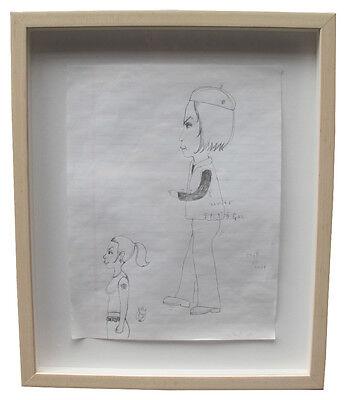 """Yoshitomo Nara """"Two Girls"""" Pencil on Paper 2000 Original Murakami Yayoi Kusama"""