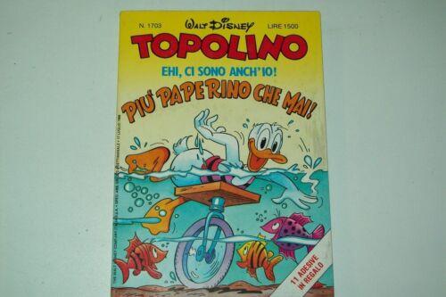 WALT DISNEY TOPOLINO LIBRETTO N.1703 - 17 LUGLIO 1988-8 SU 11 FIGURINE ADESIVE