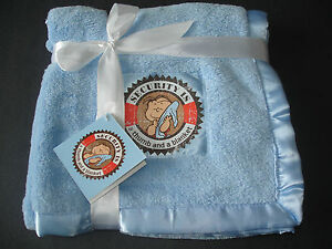 NEW-Peanuts-Linus-Soft-Blue-Security-Baby-Blanket-Snoopy-Charlie-Brown
