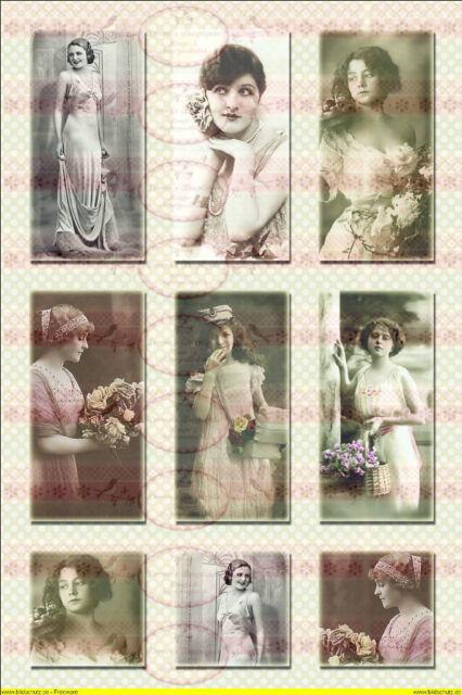 Shabby Vintage Bügelbilder Ladys Frauen Paris  NO. 416