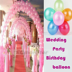New-100-X-10-Wedding-Party-Birthday-Decorations-Latex-Pearl-Balloons