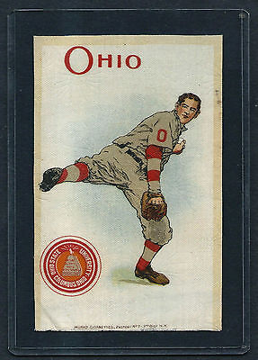 S22 SMALL MURAD TOBACCO SILK OHIO STATE BASEBALL PITCHER