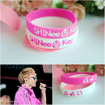 2X Shinee Jelly bands KEY Kim Ki-bum silicone bracelet K-POP Wristbands