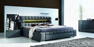 das bild wird geladen design luxus lounge polsterbett doppelbett futon bett leder - Doppelbett Luxus