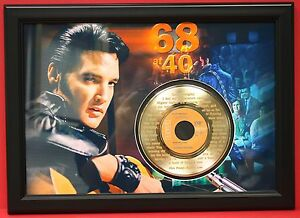ELVIS-PRESLEY-LARGE-FRAMED-ETCHED-GOLD-45-RECORD-DISPLAY-FREE-U-S-SHIPPING-2