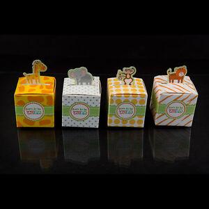 24 mix born to be wild jungle safari theme baby shower favor candy box