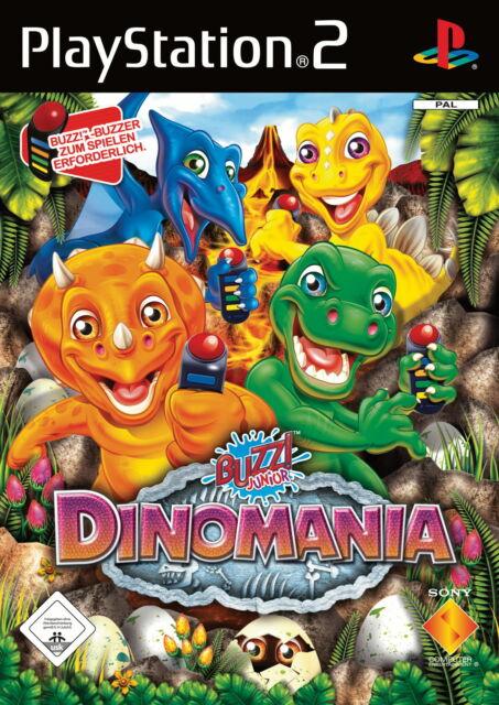 Buzz Junior Dinomania mit Anleitung (PS2) - DVD wie Neu