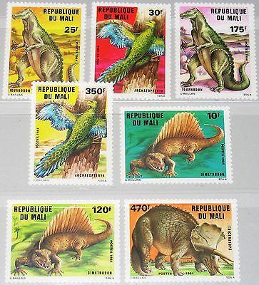 MALI 1984 1025-31 504-10 Prehistoric Animals Dinosaurs Dinosaurier Fauna MNH