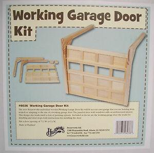 Garage Door Working Kit 6036 Dollhouse Miniature 1 12