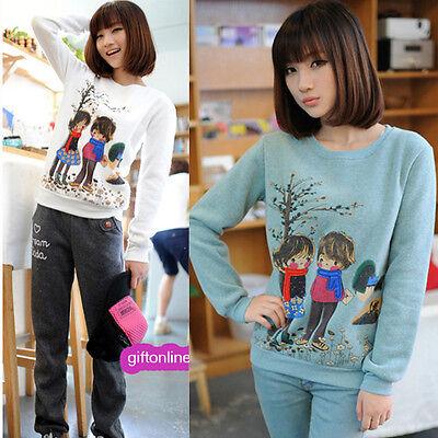 New Fashion Women Sweats thicker fleece round neck Sweatshirt 8404