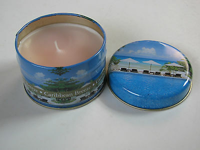 Scented Candle In Travel Tin Airfreshner Relaxing Caribbean Cotton Air Freshner