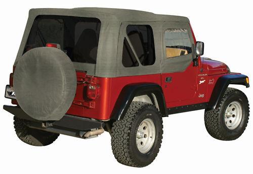 RAMPAGE Khaki SOFT TOP UPPER SKINS 97-06 FOR JEEP WRANGLER Car ...
