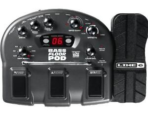 line 6 bass floor pod bass guitar multi effects pedal power supply ebay. Black Bedroom Furniture Sets. Home Design Ideas