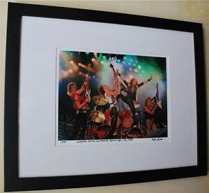 Scorpions-Rare-live-fine-art-photo-framed-1984-tour-LA-Forum-signed-4-100