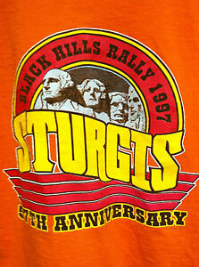 STURGIS-BLACK-HILLS-RALLY-57th-ANNIVERSARY-1997-XL-SHIRT-MOUNT-RUSHMORE-DESIGN