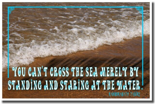 NEW Motivational POSTER - You Can't Cross the Sea Merely by Standing and Staring