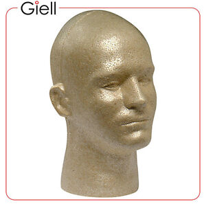 1-Giell-Styrofoam-Foam-Mannequin-Wig-Head-Display-Male-Tan-Color