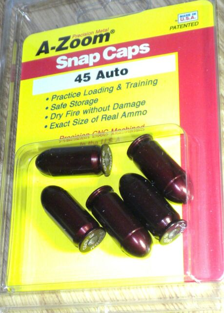 A-Zoom Precision Metal Snap Caps for 45 ACP # 15115  5 per Package * New!
