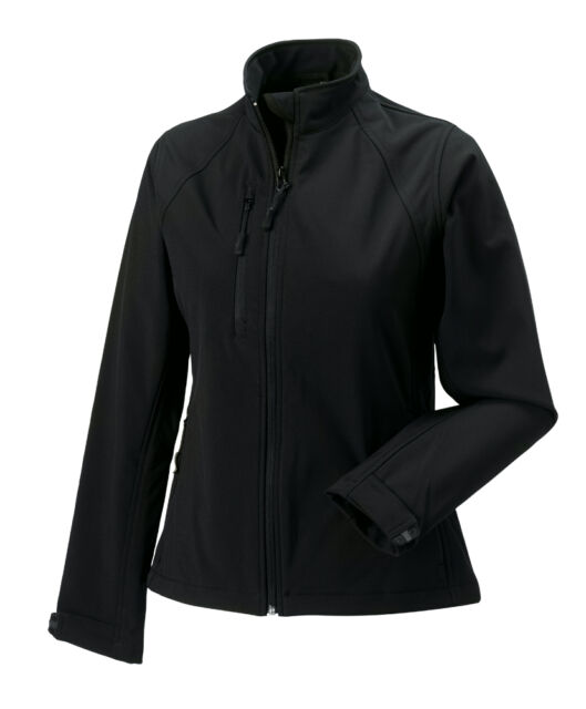 5343f1a84 Russell 140F Womens Ladies Fleece Lined Softshell Bomber Jacket No Logo