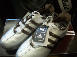 af21a848adf8 NEW IN BOX WOMENS ADIDAS DRIVER SUZY METAL/BROWN SIZE 9.5 GOLF SHOES ...