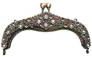 "(One) Purse frame 185, 5"" ANTIQUE GOLD purse handle"