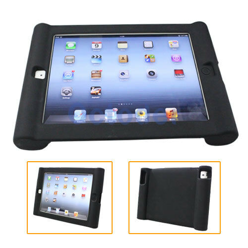Silicone Gel Skin Game Case Protective Cover Soft Shell Bumper for iPad2/3 Black