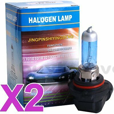 Pair HB4 9006 Car Headlight Fog Lamp HID Xenon Halogen Super White Bulbs 55W