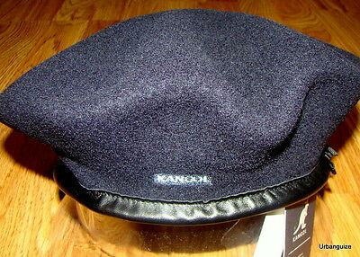 Mens Classic  Kangol  Wool  Monty  Military  Beret  Color  Dark Blue