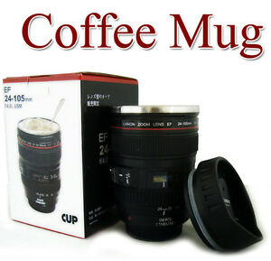 NEW-Caniam-Canon-Lens-Cup-Coffee-Mug-Camera-EOS-EF-24-105mm-Stainless-Gift-DC139