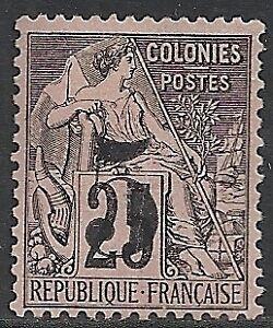 Cochinchine 1886 YV 4 UNG VF