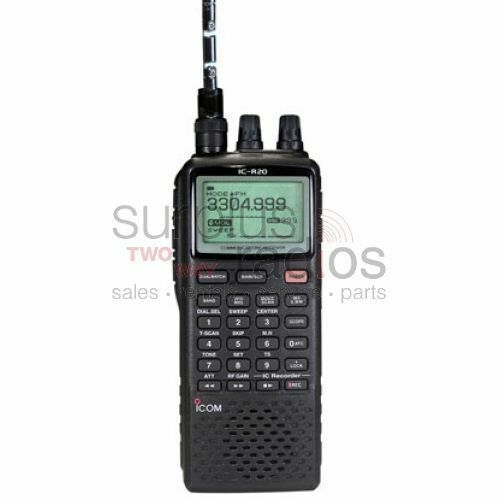 Icom R20 Sport Wide Band Handheld Portable Receiver Police Fire Scanner Radio