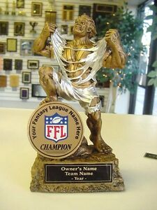 Fantasy Football Individual Monster Trophy Cool Color Ffl