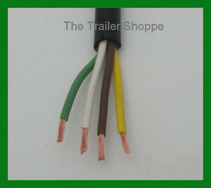 trailer light cable wiring harness 14 4 14 gauge 4 wire jacketed image is loading trailer light cable wiring harness 14 4 14