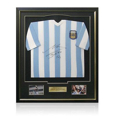Framed Diego Maradona hand signed Argentina shirt