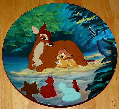Disney Collector Plate Hello Little Prince Bambi Series with COA & Box