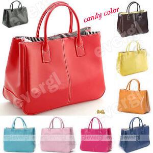 Fashion-Women-Korea-Style-PU-leather-Clutch-Handbag-Bag-Totes-Purse-12-Colors-GL