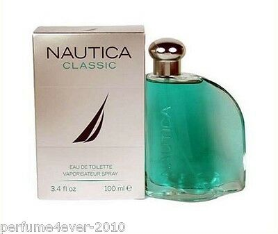 NAUTICA CLASSIC  MEN COLOGNE 3.3 3.4 OZ 100 ML EAU DE TOILETTE SPRAY NIB SEALED