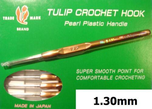 Tulipe Fine Acier Dorés Point Perle T-9g Confortable Poignée Crochet 0.50-1.75mm