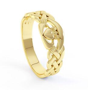 10k Carat Gold Irish Handcrafted Genuine Irish Celtic and Claddagh Design Ring