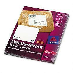 avery dennison ave 5524 weather proof mailing label 3 33 width x