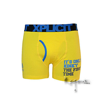Mens Xplicit Novelty Funny Boxer Short Trunk Underwear Comedy Gift
