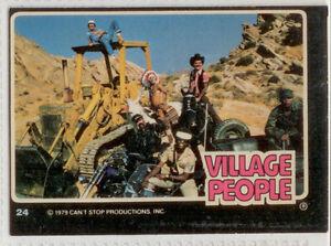 Village People-Vintage Raincloud Productions 1979 Trading Card