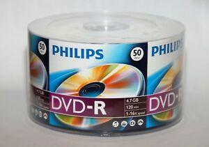 50-PHILIPS-Logo-16X-DVD-R-DVDR-Recordable-Blank-Disc-Media-4-7GB