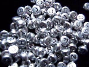50pcs-7mm-silver-coin-alphabet-beads-single-letter-A-Z