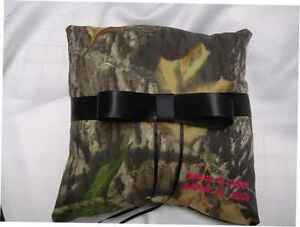Camoflauge-Ring-Bearer-Pillow-Mossy-OAK-BREAK-UP-BOW-PERSONALIZED-any-color-NEW