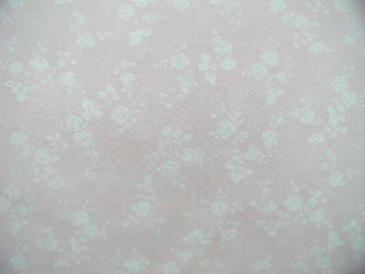 Mary Rose 3 Quilt Gate Soft  Pink with White Roses Toile Blender Fabric Dolls